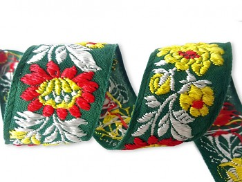 Polyester Folk Costume Ribbon width 36mm / 1m