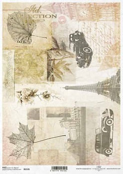 Rice decoupage paper A4 / ITD R1535