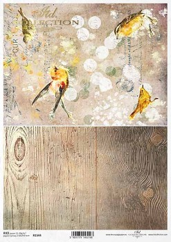 Rice decoupage paper A4 / ITD R1544