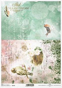 Rice decoupage paper A4 / ITD R1546
