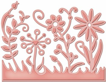 Flower Burst / D-lites / Vyrezávacia a embosovacia šablóna