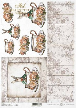 Rice decoupage paper A4 / ITD R1580