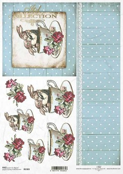 Rice decoupage paper A4 / ITD R1583