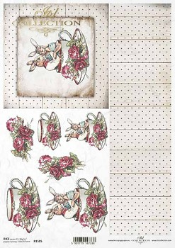 Rice decoupage paper A4 / ITD R1585