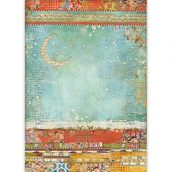 Rice decoupage paper A3 / Moon