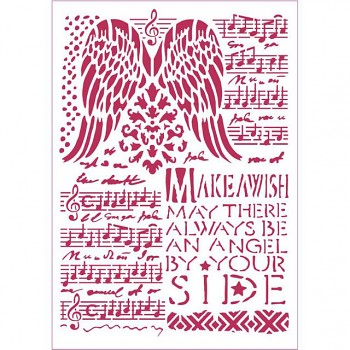 Stencil / A4 / Music and wings