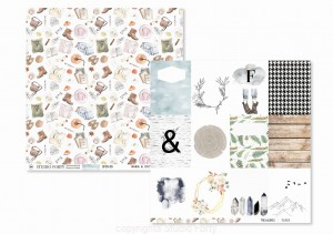 Scrapbookový papier / 12x12 / GAIA - Warm&cozy / Treasures