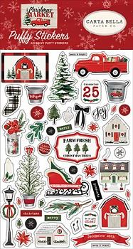 Christmas Market / Puffy samolepky