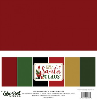 Here Comes Santa Claus 12x12 / Solids Kit