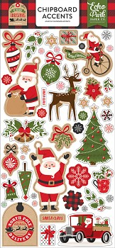 """My Favorite Christmas / Chipboard Accents / 6x12"""""""