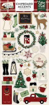 A Cozy Christmas / Chipboard Accents / 6x12""