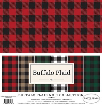 Buffalo Plaid No.1 12x12 / Sada papierov