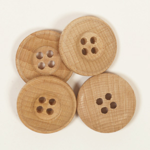 Wooden button / 2cm / 1pc