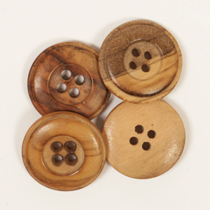 Cedar button / 2cm / 1pc