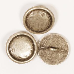 Kovový gombík strieborný / 2cm / 1ks