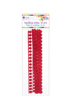 Peony / Red Quilling Strips / 1,8 cm / 12pcs