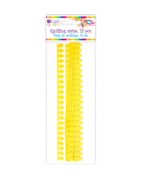Daisy / Yellow Quilling Strips / 1,8 cm / 12pcs