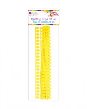 Daisy / Quillingové proužky žluté / 1,8 cm / 12 ks