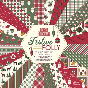 Festive Folly / 12x12 / 24pcs / Paper Pack