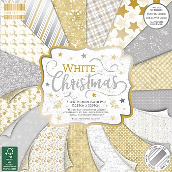 "White Christmas 8x8"" Paper Pack / 48pcs"