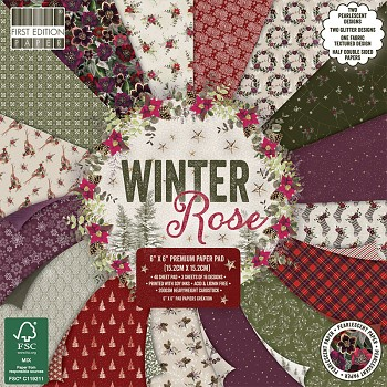 Winter Rose 6x6 Paper Pack / 48pcs
