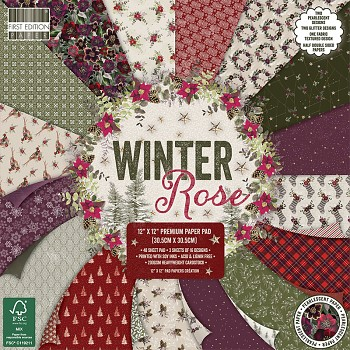 Winter Rose / 12x12 / 48pcs / Paper Pack