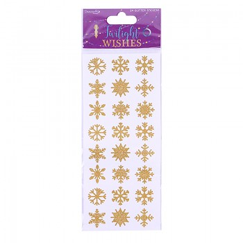 Twilight Wishes Glitter Snowflake Stickers