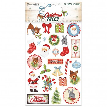 Christmas Tales Puffy Stickers / samolepky