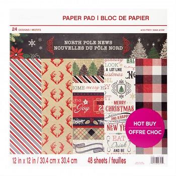 Sada papierov / North Pole News / 12x12 / 48ks