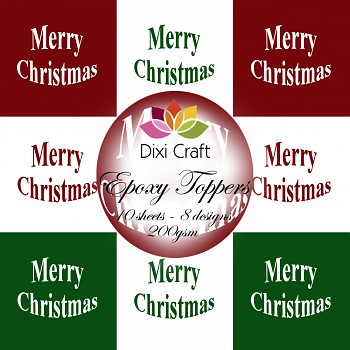 Dixi Toppers 9x9cm Merry Christmas / sada kartičiek