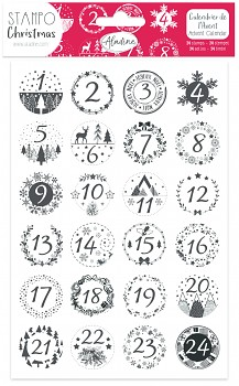 StampoChristmas / Classic Advent Calendar Foam Stamps