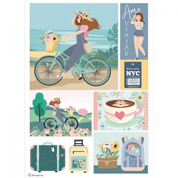 Ryžový papier na decoupage A4 / Bycicle