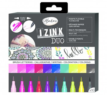Aladine Izink Duo Brush Lettering Set (10pcs)