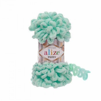 Alize Puffy / 100g / 19 Light Turquoise