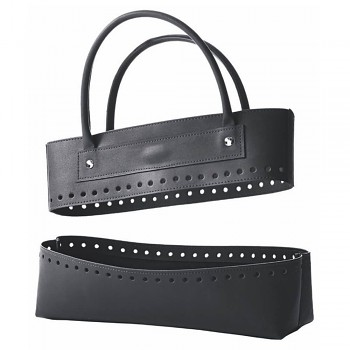 KnitPro Make your own imitation leather bag set black