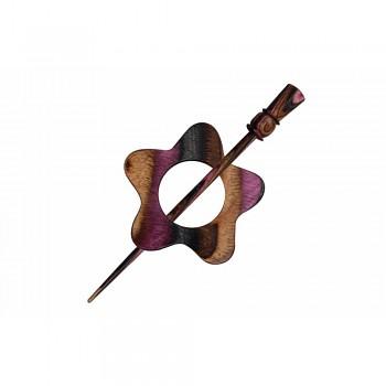 KnitPro Symfonie lilac shawl pin Garnet