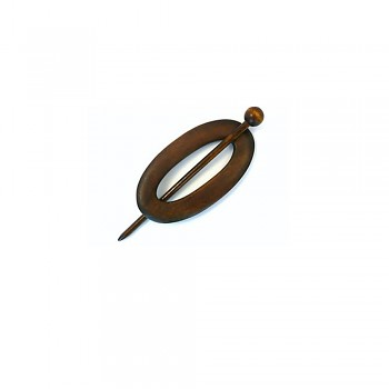 Cardigan fastener wood oval 95mm