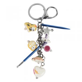 Ozdobný prívesok na kľúče KnitPro Passion s háčikom a mini ihlicou