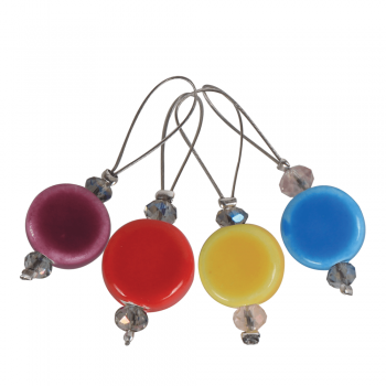 KnitPro Stitch Markers Gems / 12pcs