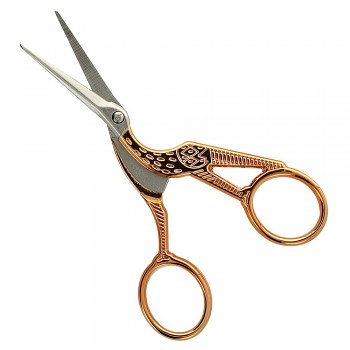 Embroidery scisscors stork 11.5cm / rose gold