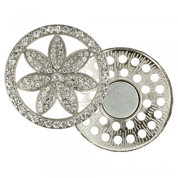 Decorative brooch megnetic flower 45mm