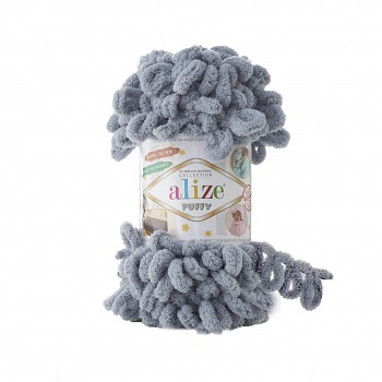 Alize Puffy / 100g / 428 Medium Grey