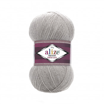 Superwash Comfort Socks / 100g / 21 grey melange