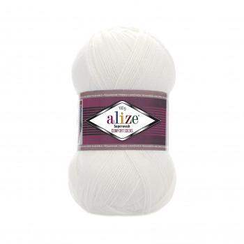 Priadza Superwash 100 / 100g / 55 white