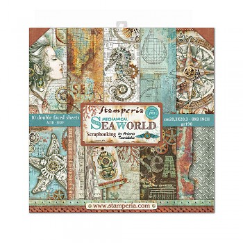"Sea World / 8x8"" / Sada scrapbookových papierov"