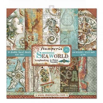 "Sea World / 12x12"" / Sada scrapbookových papierov"