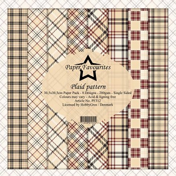 Sada papierov / Plaid Pattern / 12x12 / 8ks