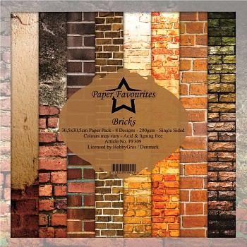 Sada papierov / Bricks / 12x12 / 8ks