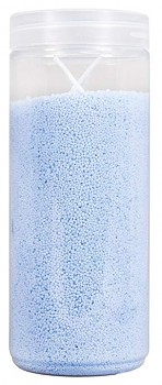 Sand cast candle with 2 wicks / 250g / light blue