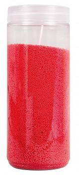 Kryštalický vosk s 2 knôtami / 250g / červený